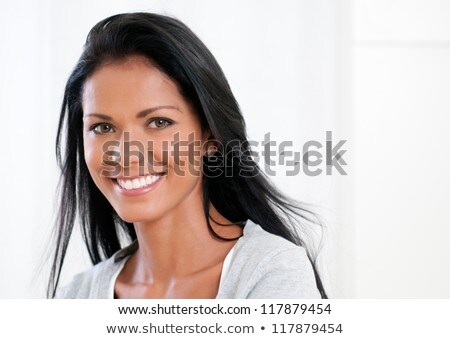 hispanic model laughing stock photo © arenacreative