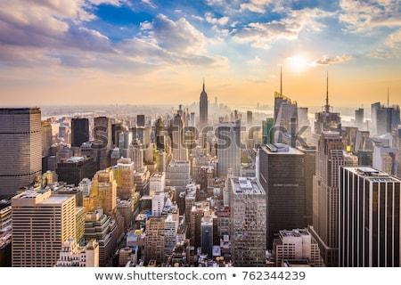 Empire State Building Manhattan New York USA épület utazás Stock fotó © phbcz
