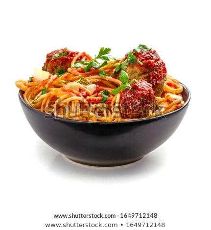 Kom gehaktballetjes objecten bereid diner chefs Stockfoto © searagen