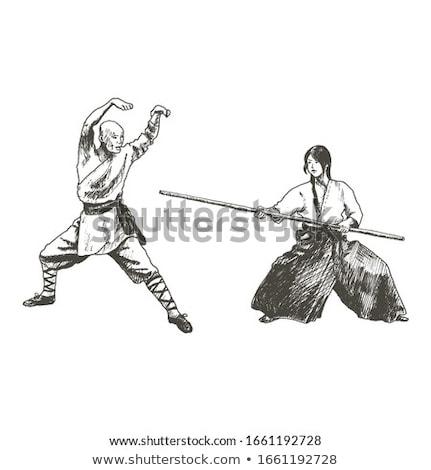 僧侶 · 面白い · 筋肉の · 男 · 背景 · 中国語 - ストックフォト © sahua