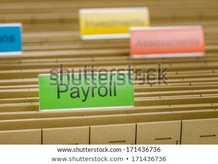 Folder with the label Payroll Stock photo © Zerbor