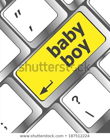 Baby Boy Message On Keyboard Enter Key Сток-фото © fotoscool