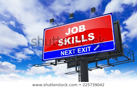Business Skills on Red Billboard. Stock photo © tashatuvango