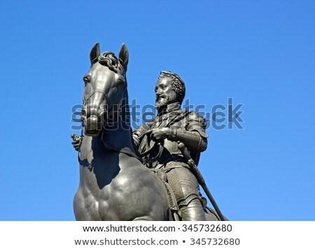 henry iv statue in paris stock photo © chrisdorney
