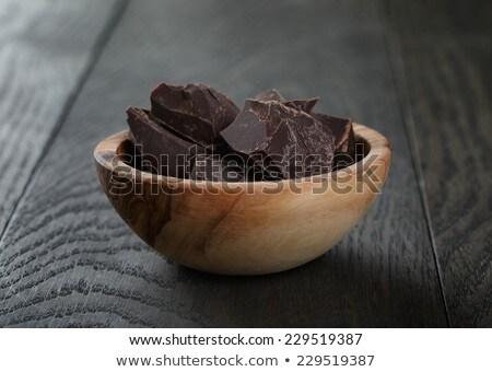 Peças chocolate prato quente comida Foto stock © tannjuska