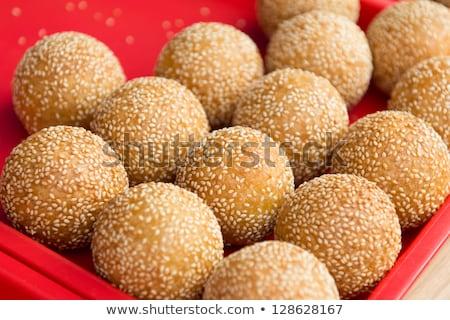 wrap bean paste in glutinous ball Stock photo © wxin