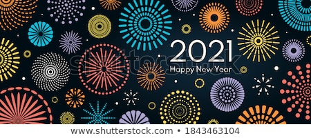 Gelukkig nieuwjaar blauwe hemel illustratie wolken partij achtergrond Stockfoto © ankarb