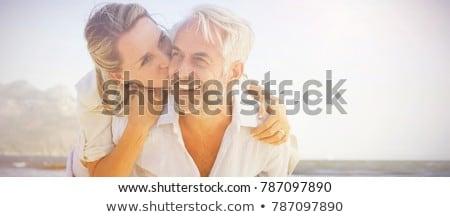 счастливым пару любви морем пляж Сток-фото © Yatsenko