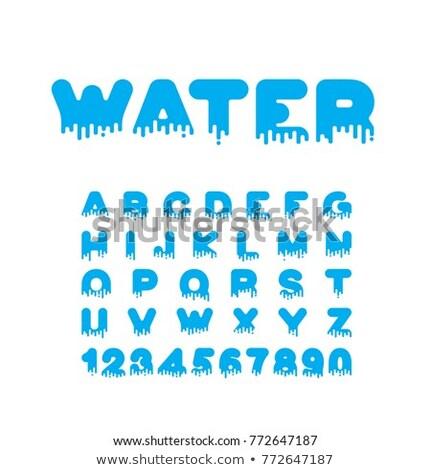 Płynnych chrzcielnica alfabet litery wody Zdjęcia stock © MaryValery