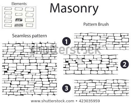 Brick wall vector seamless pattern background 3 Stock photo © sanjanovakovic