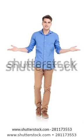 young smart casual man welcoming stock photo © feedough