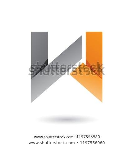 Pomarańczowy fałdowy papieru list w wektora ilustracja Zdjęcia stock © cidepix
