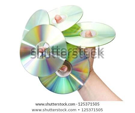 üres · cd · adat · lemez · izolált · fehér - stock fotó © suriyaphoto