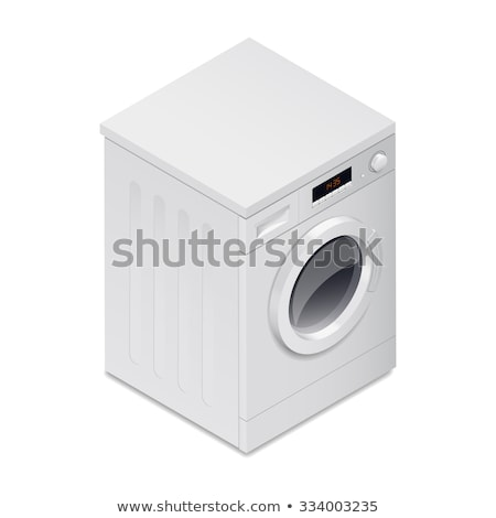 Realistic detailed isometric 3d washing machine icon Stock photo © MarySan