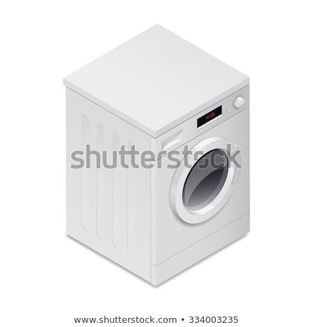 mosógép · valósághű · terv · ruházat · tiszta · szennyes - stock fotó © marysan
