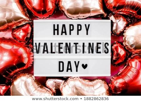 gelukkig · valentijnsdag · tekst · witte · krijt · zwarte - stockfoto © grafvision