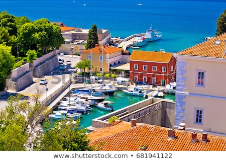 City of Zadar waterfront aerial summer view Stock photo © xbrchx