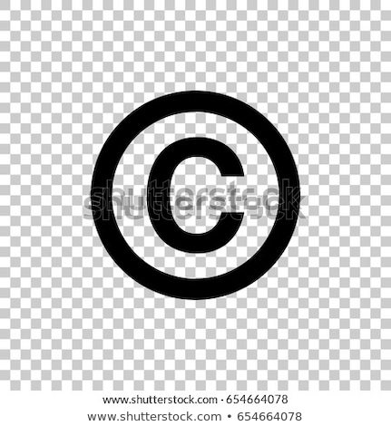 Auteursrecht bescherming grafisch ontwerp sjabloon vector geïsoleerd Stockfoto © haris99