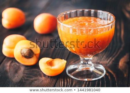 Glas vaas abrikoos jam vers voedsel Stockfoto © Alex9500