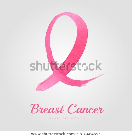 Strijd tekst roze borstkanker bewustzijn Stockfoto © wavebreak_media