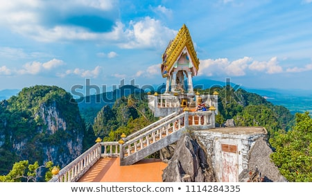 Statues of tigers at buddhist temple in Thailand Stock photo © vapi