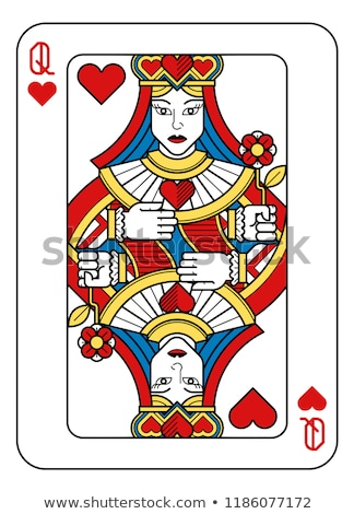 Playing Card Reverse Back in Yellow and Red Stock photo © Krisdog