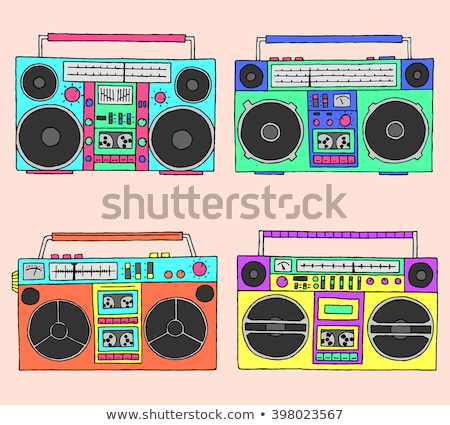 Jeunes adolescents radio musique vecteur Teen Photo stock © robuart