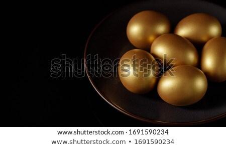 Gouden kip ei 3d illustration geïsoleerd witte Stockfoto © montego