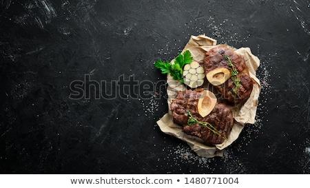 Főtt borjúhús olasz konyha specialitás narancs piros Stock fotó © Alex9500