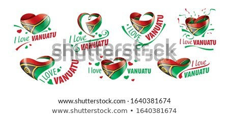 Vanuatu flag, vector illustration on a white background Stock photo © butenkow