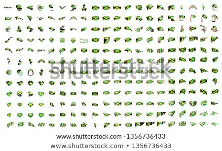 very big collection of vector flags of the Jamaica Stock photo © butenkow