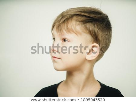 Retrato belo bebê menino sonhador veja Foto stock © galitskaya