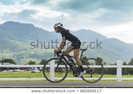 Cyclist on track for cyclists Stock photo © jossdiim