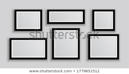 Sechs Wand Foto Frames unterschiedlich Film Stock foto © SArts