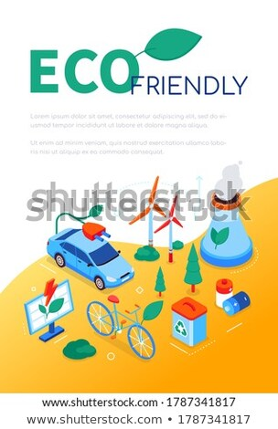 Eco friendly - modern colorful isometric web banner Stock photo © Decorwithme