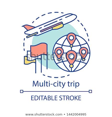 Stad tour abstract toeristische groep Stockfoto © RAStudio