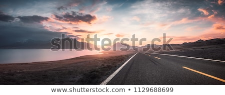 highway at sunset stock photo © photocreo