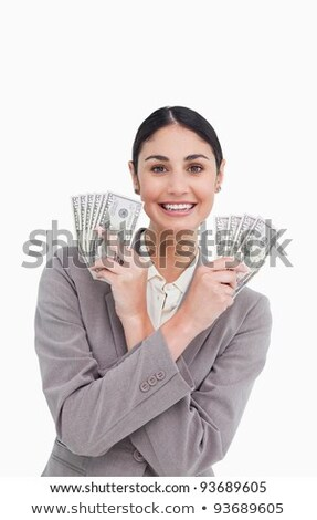 Tradeswoman holding money Stock photo © photography33