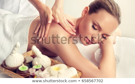 Woman having a massage at the spa Stock photo © photography33