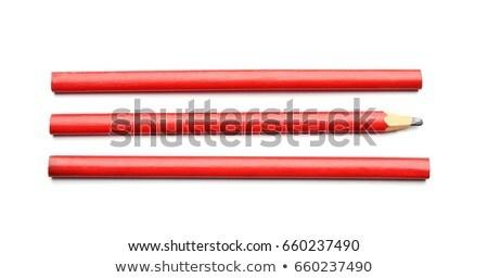 плотник пиломатериалов изолированный белый древесины таблице Сток-фото © photography33
