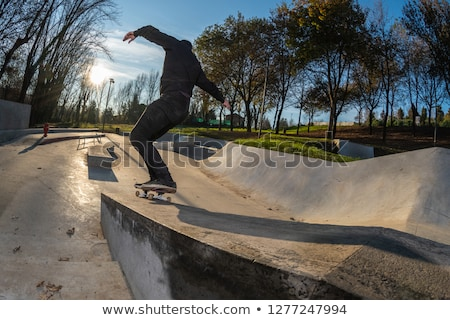 Skating Boarding At The Local Skate Park Foto stock © homydesign