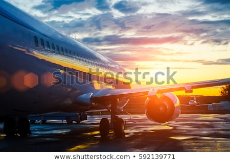 Parked Airplane at Dawn Stock photo © eldadcarin