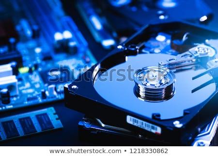 abierto · ordenador · caso · aislado · blanco · servicio - foto stock © kyolshin