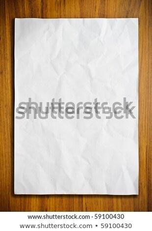 Blank Fold White Paper on Wood Stock photo © nuttakit