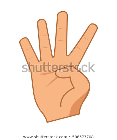 Woman hand showing four count Stock photo © stockyimages
