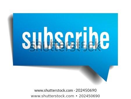 sign up blue marker stock photo © ivelin