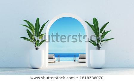 gyönyörű · trópusi · sziget · széles · látószögű · halszem · kilátás - stock fotó © jonnysek