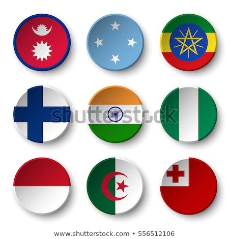 Zdjęcia stock: Banderą · papieru · kółko · cień · przycisk · Nigeria