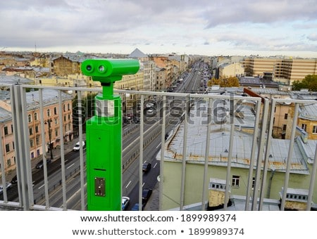 coin operated binoculars with forest in the background saint la stock photo © bmonteny