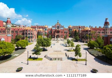 病院 ラ サンタクロース バルセロナ 古い スペイン ストックフォト © dinozzaver